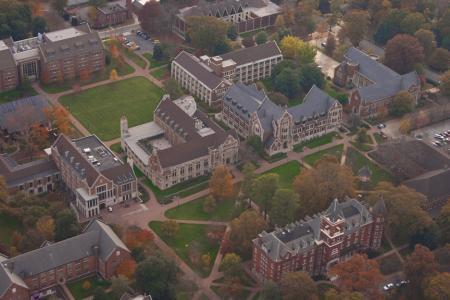 Agnes Scott Arboretum - aerial view