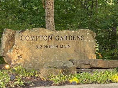 Compton Gardens sign